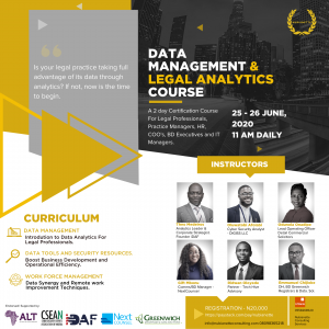 Data Management And Legal Analytics Course 2020